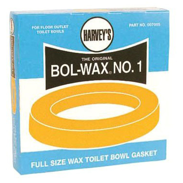 Bol-Wax Closet Bowl Wax Gasket, Brass Bolt