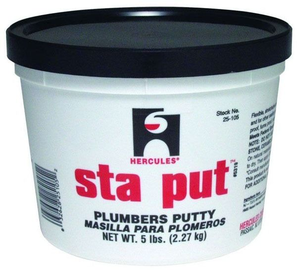 Plumbers Putty - Sta Put, Off-White, Non-Mastic, 5 Lb Pail