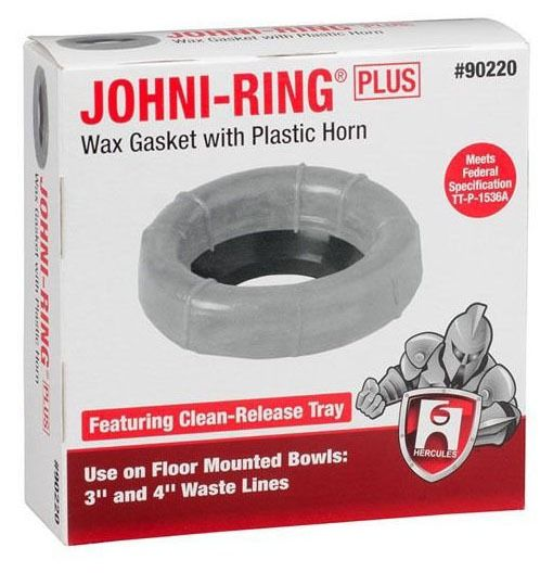 Gold Petroleum Wax Gasket with Plastic Horn - Johni-Ring