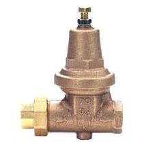 """3/4"""" Cast Bronze Water Pressure Reducing Valve - FPT Union, 300 psi"""