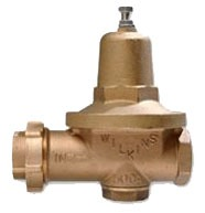 "1"" Cast Bronze Water Pressure Reducing Valve - FPT Union x FPT, 300 psi"
