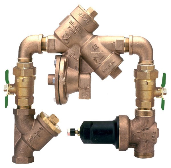 "1-1/2"" Cast Bronze Y-Pattern Reduced Pressure Backflow Preventer Assembly - FPT, 175 psi"