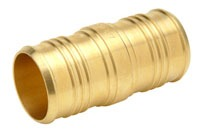 "1-1/2"" Barb x Barb Brass Straight Coupling"