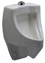 "Commercial Siphon Jet Urinal - 0.5 to 1 GPF, 3/4"" Top Spud Inlet"