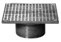 """5"""" Length x 5"""" Width x 2"""" Height Square Adjustable Drain Strainer, Polished Nickel Bronze Top"""