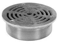 "5"" Diameter x 2"" Height Round Adjustable Drain Strainer, Polished Nickel Bronze Top"