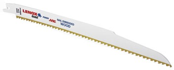 "6"" Bi-Metal Reciprocating Saw Blade - T2 / Gold, 6 TPI, Titanium Coated"