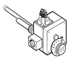 """Water Heater Commercial Gas Control Valve 3-1/2"""" Manifold Pressure Setting"""