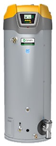 60 Gallon Commercial Natural Gas Water Heater - Cyclone Mxi, 120000 BTU, Condensing