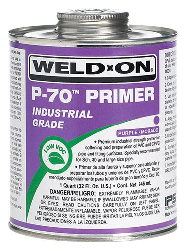 Primer - Weld-On / P-70, Purple, 1 Quart Can