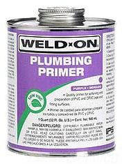 Plumbing Primer - Weld-On, Purple, 1 Quart Can