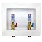 Dual Drain Washing Machine Outlet Box, Brass