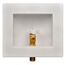 """1/2"""" Soldered Ice Maker Outlet Box, Lead-Free Brass"""