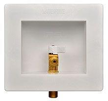 "1/2"" PEX Ice Maker Outlet Box, Plastic"