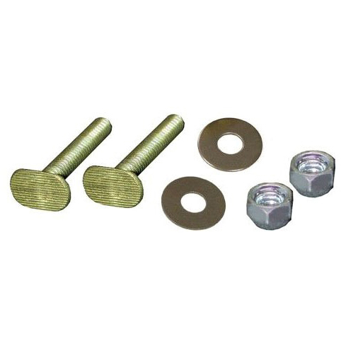 "1/4"" X 2-1/4"" Brass Closet Bolts W/Round Washers and Nuts (Pair)"