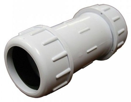 "2-1/2"" IPS PVC Compression Coupling 7-7/8"" Long"