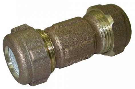 "3/4"" X 1/2"" X 3"" CTS Compression x IPS Compression Brass Reducing Coupling"