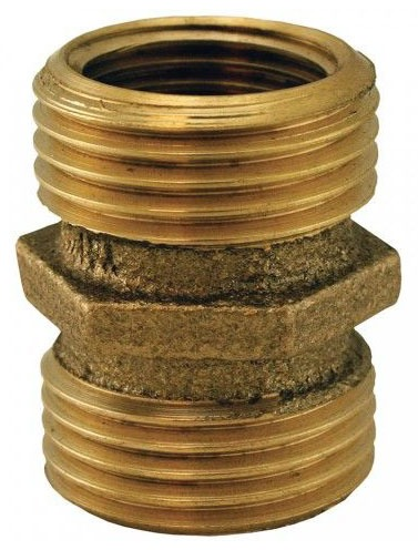 "3/4"" Brass Hose Adapter Male Hose Threaded x Male Hose Threaded"