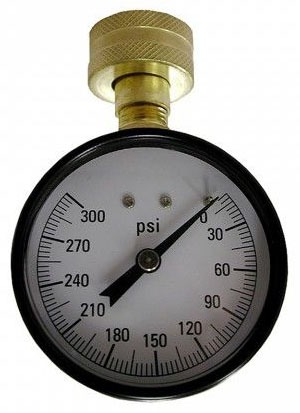 "300 PSI 2-1/2"" Face Water Test Gauge"