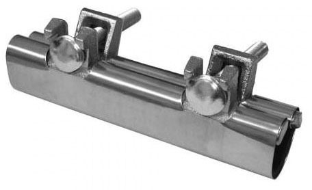 "2"" IPS Stainless Steel 6"" Long Two Bolt Repair Clamp"