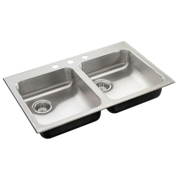 "33"" X 21"" Drop-In Mount Dishwasher Sink, 304 Stainless Steel"