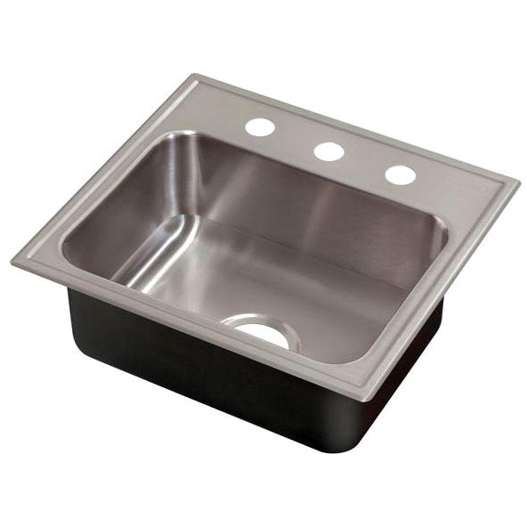 "21"" X 19"" Drop-In Mount Kitchen Sink, 304 Stainless Steel"