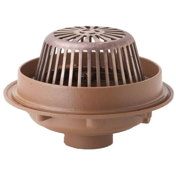 "4"" No Hub Roof Drain, Duco Cast Iron"