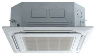 24000 BTU 17 SEER / 12.6 EER Duct-Free Air Conditioner - 208/230 VAC, 1-Zone, 4-Way Ceiling Cassette, R-410A Refrigerant