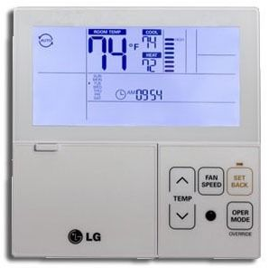 Air Conditioner Programmable Remote Controller - White