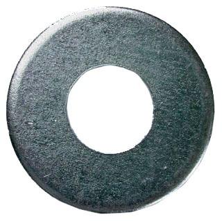 "1/4"" Steel Flat Washer - Zinc Plated"