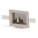 Left White Washing Machine Outlet Box - Specialty Products / Switch Hitter, with Copper Sweat Valve, Plastic