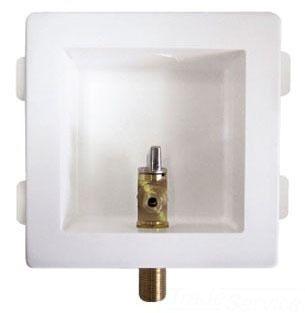 PEX/Compression Ice Maker Box, Lead-Free Plastic