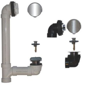 Lift and Turn Bath Waste Assembly, ABS
