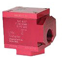 """3/4"""" Threaded Gas Safety Valve, Solid Aluminum 90 Degree"""