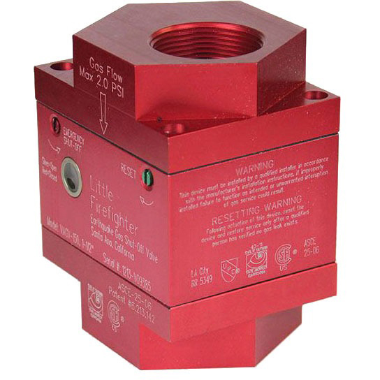 "1"" Threaded Gas Safety Valve, Solid Aluminum Vertical"
