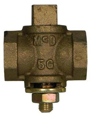 "3/4"" Threaded Gas Plug Valve, Bronze"