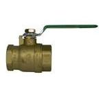 "2"" Threaded Gas Ball Valve, Forged Brass"