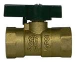 "1/2"" Threaded Gas Ball Valve, Forged Brass"