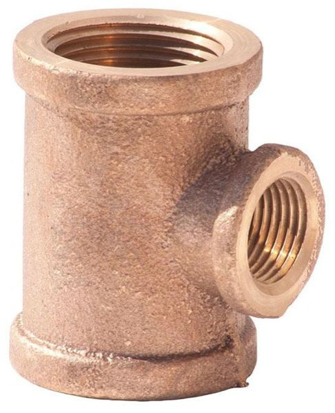 """3/4"""" x 3/4"""" x 1/2"""" Brass Import Reducing Tee - FPT"""