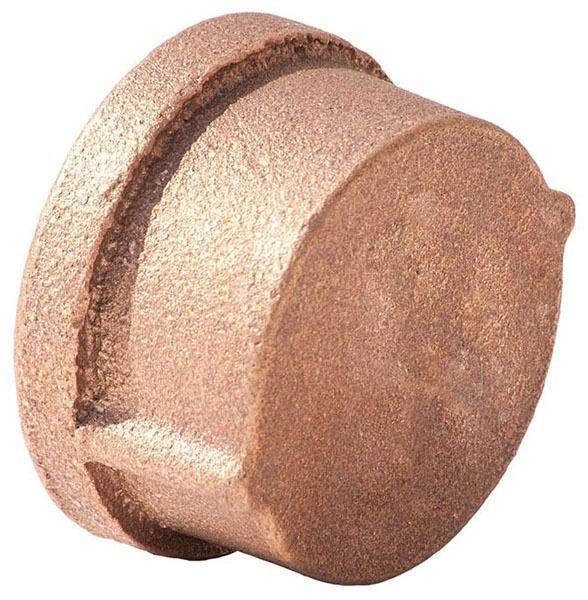 "2"" Brass Round Head Cap - NPT, 125 psi, Import"