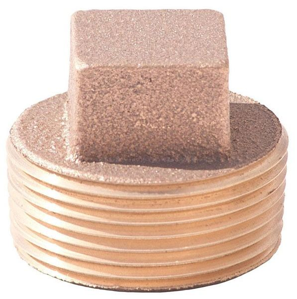 Lead-Free Brass Square Head Cored Plug Fitting