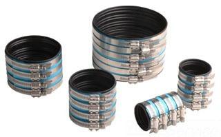 """8"""" 304 Stainless Steel/Elastomer Straight Coupling"""