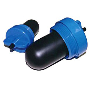 """4"""" Threaded Test Seal Plug, Natural Rubber/ABS"""