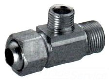 """1/2"""" x 1/2"""" x 3/8"""" Brass Adapter Extender Reducing Tee - EZ CONNECT, Compression x MPT x MPT"""