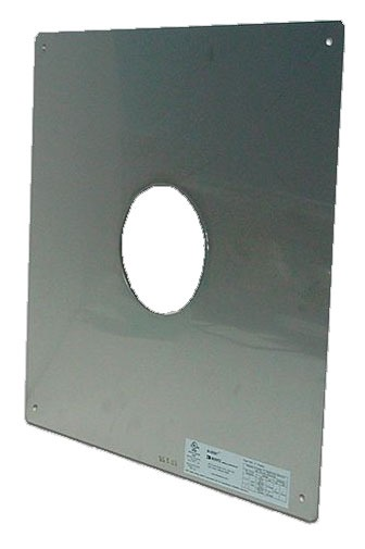 """4"""" Water Heater Vent Fire Stop - Stainless Steel"""
