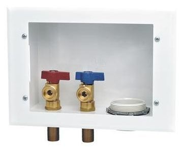 Soldered Washing Machine Outlet Box, Steel