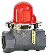 Threaded Gas Shut-Off Valve 7 PSI Horizontal Flow 1-1/2""