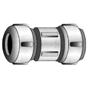 "1-1/2"" Brass Straight Coupling - Compression"