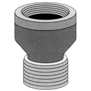 """1/2"""" Red Brass Pipe Extension Piece"""