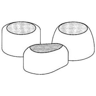 """1/4"""" Round Toilet Bolt Cap, Plastic"""